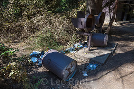 Bearproof Garbage Can Torn Apart by Bear in Yosemite National Park