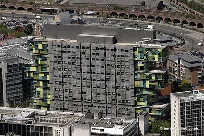 aerial photograph of Manchester Civil Justice Centre