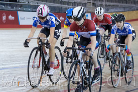 U17 Women Keirin Final. 2016/2017 Track O-Cup #3/Eastern Track Challenge, Mattamy National Cycling Centre, Milton, On, February 11, 2017