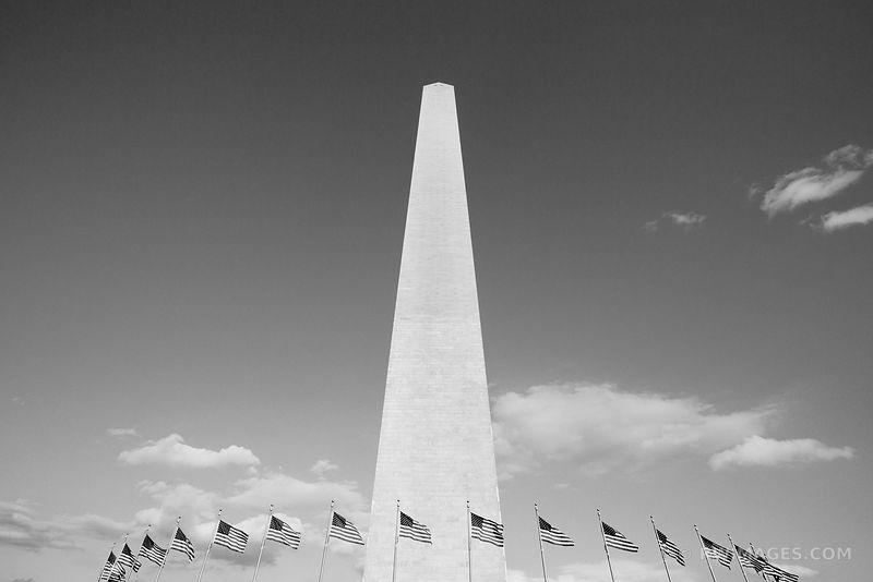 WASHINGTON MONUMENT NATIONAL MALL WASHINGTON DC BLACK AND WHITE