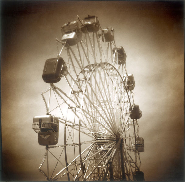 Ferris Wheel in sepia