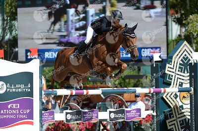 Laura RENWICK ,(GBR), HELIODOR HYBRIS during Coca-Cola Trofey competition at CSIO5* Barcelona at Real Club de Polo, Barcelona - Spain