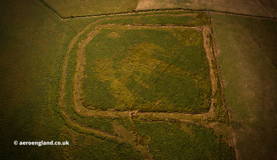 Shoulsbury castle Iron Age hill fort Devon from the air