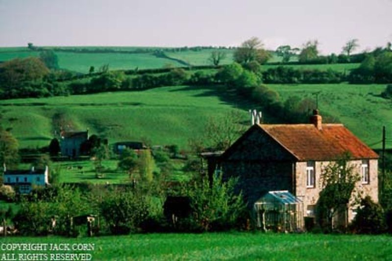 England, Chew Stoke, stone country houses