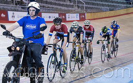U17 Men Keirin Round 1. 2016/2017 Track O-Cup #3/Eastern Track Challenge, Mattamy National Cycling Centre, Milton, On, February 11, 2017