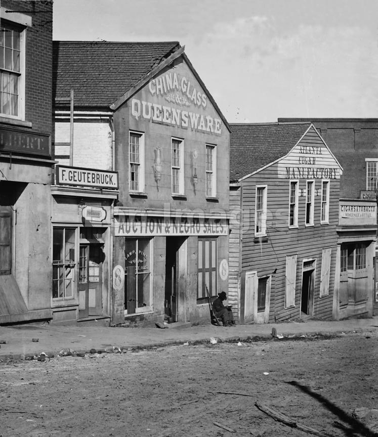 Slave auction house in Atlanta, Georgia in 1864