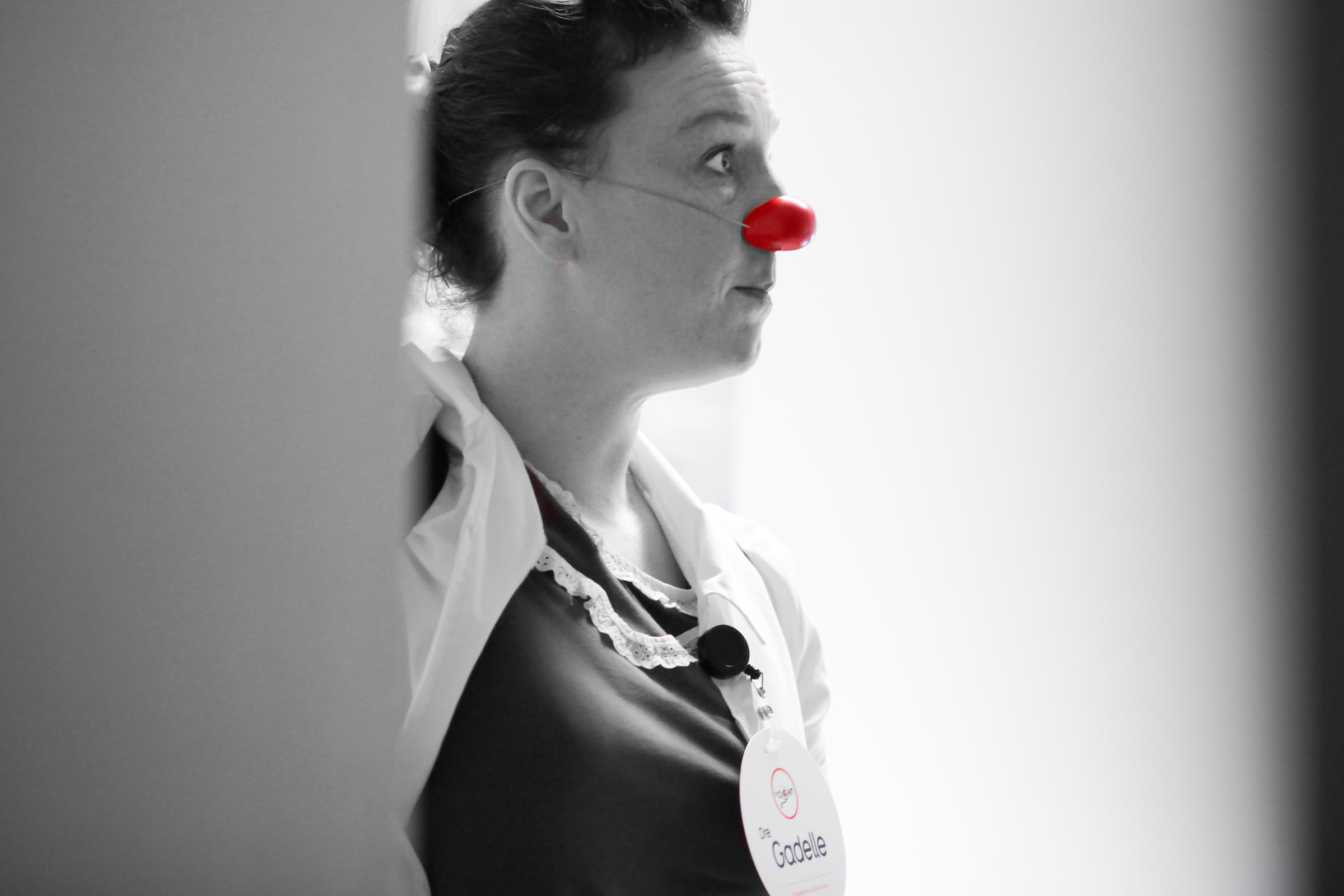 Photo d'un clown à l'hopital