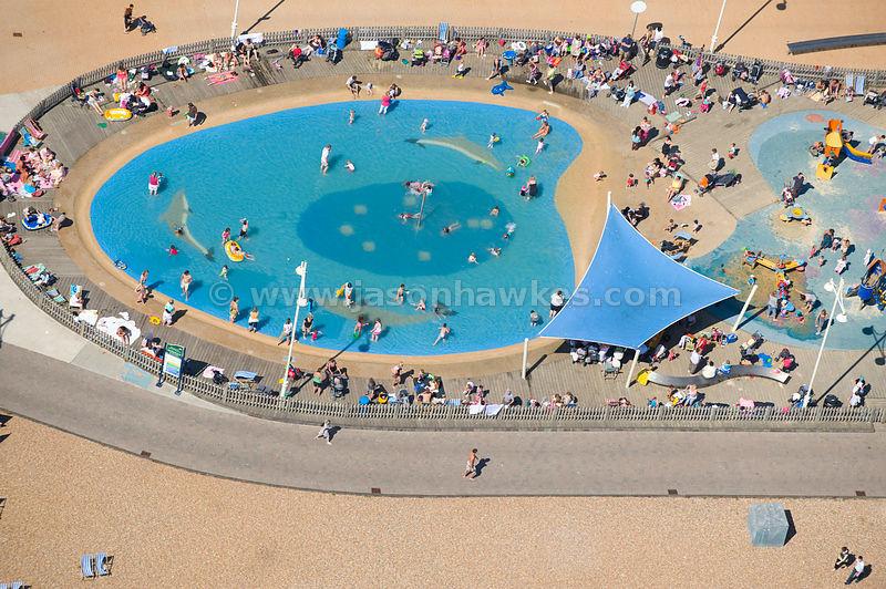 Aerial View Swimming Pool Brighton Beach Sussex Jason Hawkes
