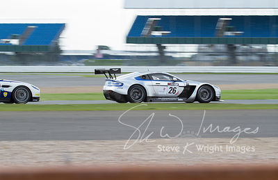 MB Racing's Aston Martin Vantage GT3 in action at the Silverstone 500 - the third round of the British GT Championship 2014 - 1st June 2014