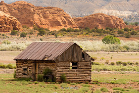 Old shack in Escalante, a city in Garfield County, Utah, United States.
