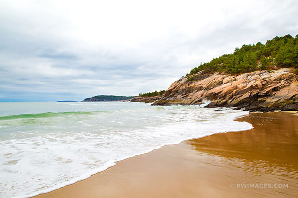 SAND BEACH ACADIA NATIONAL PARK MAINE