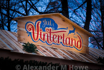 The Oslo Jul i Vinterland ( WInter Wonderland)  event  sign in Norway's capital city
