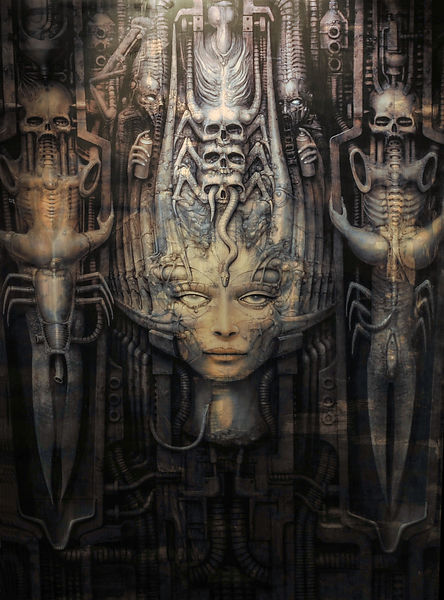 Paul Booth at the HR Giger Museum