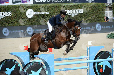 Edwina TOPS-ALEXANDER ,(AUS), CLINTON during Caixa Bank Trophy competition at CSIO5* Barcelona at Real Club de Polo, Barcelona - Spain