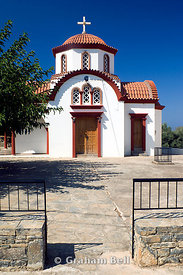 orthodox church vrouhas near elounda crete Greece