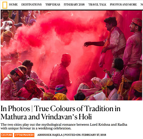 National Geographic HOLI Photo Essay, March 2018  photos