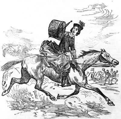 Female major on horseback during Civil War