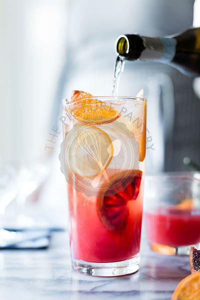Sparkling citrus and prosecco punch