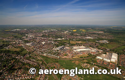aerial photograph of  Stafford Staffordshire England UK
