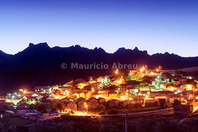 The old and traditional village of Pitões das Júnias at twilight. Peneda Gerês National Park.Trás-os-Montes, Portugal