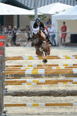 LAZAR JR. Zoltan, (HUN), LACRIMA DI FELICITA during  competition at European Jumping Championship for Children, Juniors, Young riders at Lake Arena, Wiener Neustadt - Austria