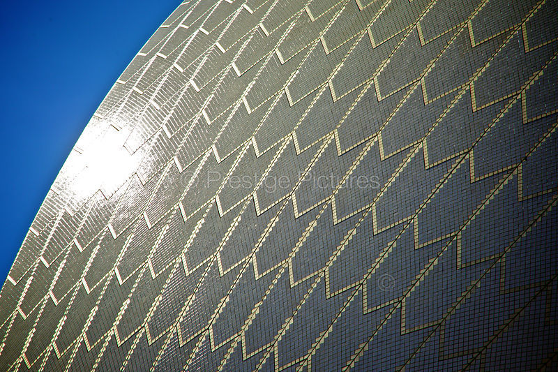 The Sydney Opera House against a Blue Sky