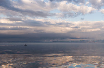 Fisherman on the Leman Lake