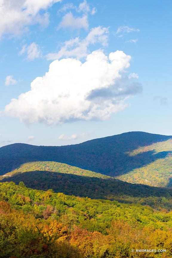 BLUE RIDGE MOUNTAINS SKYLINE DRIVE SHENANDOAH NATIONAL PARK VIRGINIA FALL COLORS VERTICAL