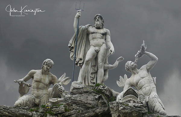 Fountain of Neptune, Rome, Italy 16x24 Canvas Wrap $89