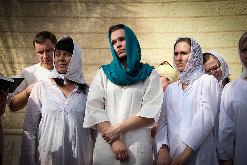 Orthodox Christian pilgrims participate in the traditional Epiphany baptism ceremony at the Jordan river at the site of Qasr el Yahud, the place where Jesus is believed to have been baptized, near the West Bank town of Jericho