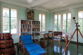 Inside of Hemingway's house in San Francisco de Paula, Cuba.