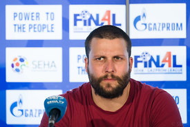 Stojance Stoilov at the opening press conference  during the Final Tournament - Final Four - SEHA - Gazprom league, Skopje, 12.04.2018, Mandatory Credit ©SEHA/ Sasa Pahic Szabo