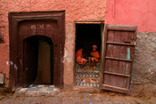 Little girls in Marrakesh mellah