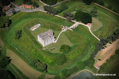 aerial photograph of Castle Rising Norfolk England UK