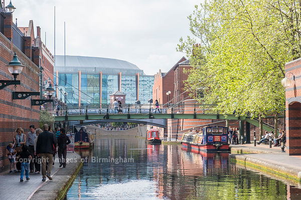 Canals surrounding Brindleyplace, Birmingham