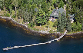 Aerial of Avalon property in Deer Isle Maine
