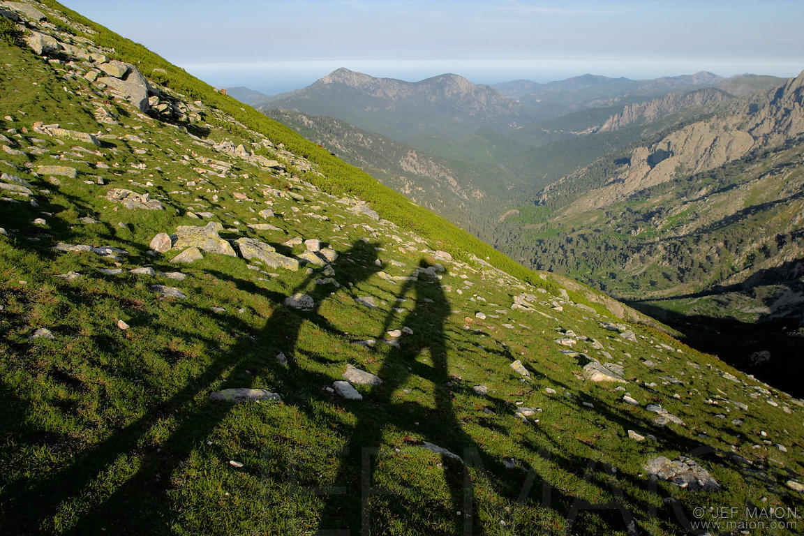 Hikers shadows