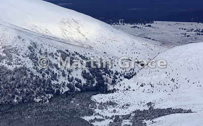 The Pass of Ryvoan, Glenmore, from Cairn Gorm Mountain
