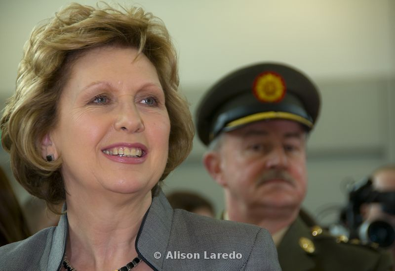 President Mary McAleese and Aide de Camp