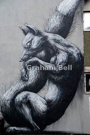 see no evil street art project nelson street bristol england