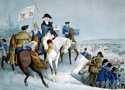 Washington prepares to cross Delaware during Battle of Trenton