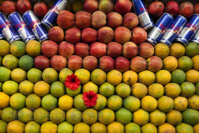 Fruit at a street vendor in Ajmer, Rajasthan, India