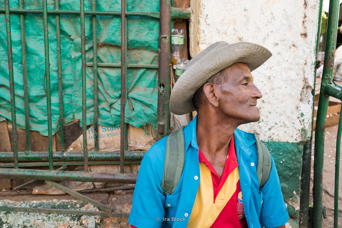 Portraits of a local man on the street in Havana, Cuba.