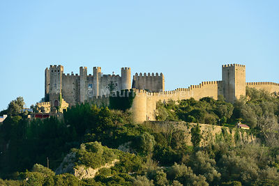 Óbidos castle, protecting one of the most beautiful medieval villages in Portugal, dating back to the 12th century.