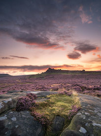 Pre-dawn light below Over Owler Tor