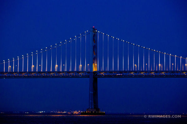 BAY BRIDGE AT NIGHT SAN FRANCISCO