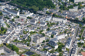 photo d'un quartier residenciel a Quimper