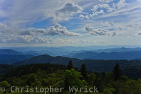 Beautiful image of the Blue Ridge Mountains taken near the Richland Balsam overlook.  This photo has it all, gorgeous clouds, rich foreground detail and distant mountains and valleys.