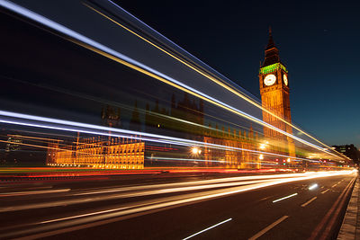 London Travel Photography - Westminster Light Trails