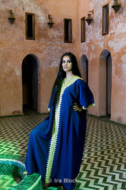Model in Madresa in Meknes, Morocco